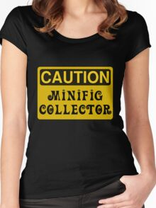 Caution Minifig Collector Sign  Women's Fitted Scoop T-Shirt