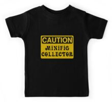 Caution Minifig Collector Sign  Kids Tee