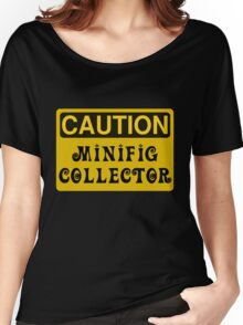 Caution Minifig Collector Sign  Women's Relaxed Fit T-Shirt