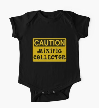 Caution Minifig Collector Sign  One Piece - Short Sleeve