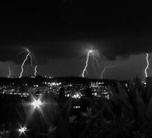 Lightning Strikes by Johann  Koch