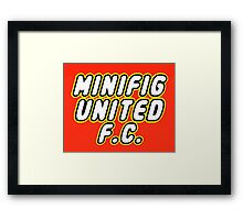 MINIFIG UNITED FC Framed Print