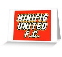 MINIFIG UNITED FC Greeting Card