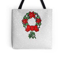 Tri Christmas Wreath Tote Bag