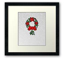 Tri Christmas Wreath Framed Print