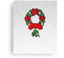 Tri Christmas Wreath Canvas Print