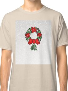 Tri Christmas Wreath Classic T-Shirt