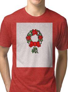Tri Christmas Wreath Tri-blend T-Shirt