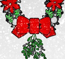 Tri Christmas Wreath Sticker