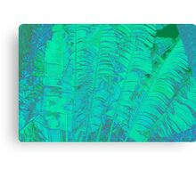 Green Feathery Leaves Canvas Print