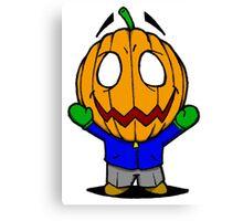 Halloweenies Pumpkin Jacko Canvas Print
