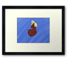 The Lady -with background- Framed Print