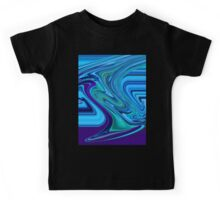 Electric Blue Abstract Design Kids Tee