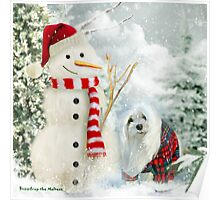 Snowdrop the Maltese & The Jolly Snowman Poster
