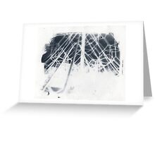 cyanotype web Greeting Card