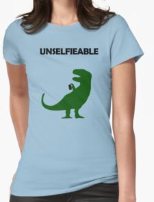 Unselfieable T-Rex Womens Fitted T-Shirt