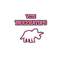 Vote Triceratops Photographic Print