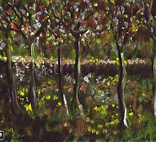 Trees and undergrowth (from my original acrylic painting) by sword