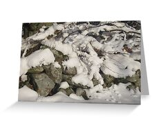 Snowy Wall Greeting Card