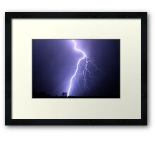 powerful bolt Framed Print