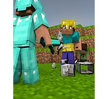 Minecraft Fight Scene Photographic Print