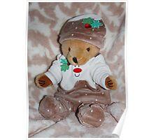 Christmas Pudding Teddy Poster