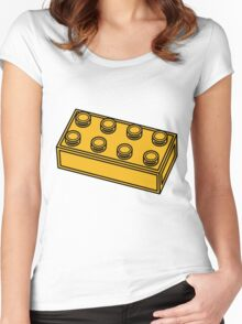 2 x 4 Brick Women's Fitted Scoop T-Shirt