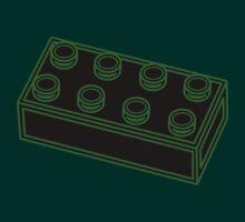 2 x 4 Brick  by Customize My Minifig