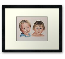 Adam and Kate Framed Print