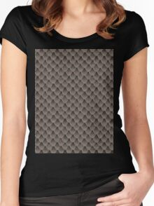 Snake Skin Texture 5 Women's Fitted Scoop T-Shirt