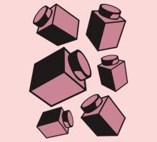 1 x 1 Bricks (AKA Falling Bricks) Baby Tee