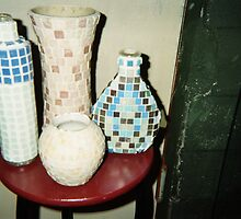 mosaic  bottles by gary wenc