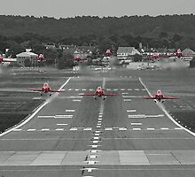 The Red Arrows Take Off - Wheels Up by Colin  Williams Photography