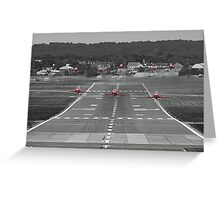 The Red Arrows Take Off - Wheels Up Greeting Card