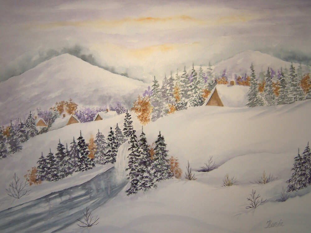 Winter Scene by Ilunia Felczer