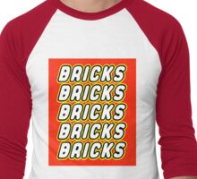 BRICKS BRICKS BRICKS BRICKS BRICKS Men's Baseball ¾ T-Shirt