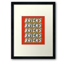 BRICKS BRICKS BRICKS BRICKS BRICKS Framed Print