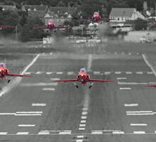 The Red Arrows Take Off - Wheels Up Sticker