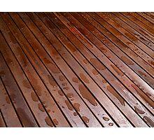 Beautiful mahogny hardwood floor Photographic Print