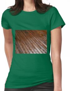 Beautiful mahogny hardwood floor Womens Fitted T-Shirt