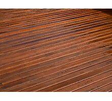 Beautiful mahogny hardwood deck floor Photographic Print
