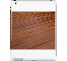 Beautiful mahogny hardwood deck floor iPad Case/Skin