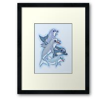 Dolphin Family Framed Print