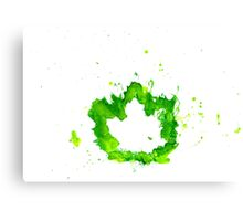Imprint of Maple Leaf 6 Canvas Print