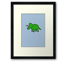 Cute Triceratops Framed Print
