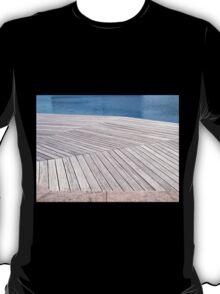 Beautiful  wooden jetty dock deck T-Shirt