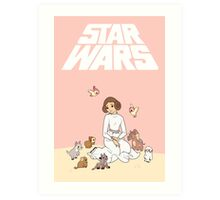 Disney Princess Leia Art Print
