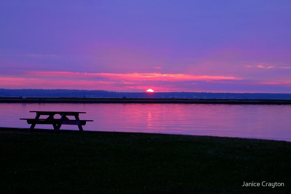 50th Birthday sunset by Janice Crayton