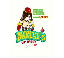 Moxxi's UP OVER Art Print
