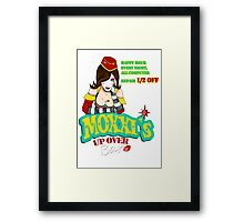 Moxxi's UP OVER Framed Print